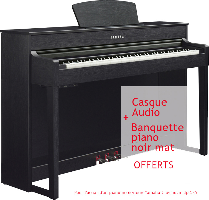 yamaha clavinova clp 535 noyer noir vente en ligne sur pianos. Black Bedroom Furniture Sets. Home Design Ideas